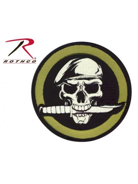 ШЕВРОН на липучке MILITARY SKULL / KNIFE код ROTHCO 72194