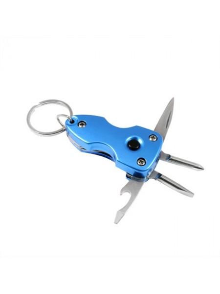 Брелок 58141 перочинный ножик Traveler K-4004 на карабине+фонарик