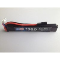 АКБ BlueMAX 1300mAh Lipo 7.4V 20C stick 13.5x21x128mm приклад весло, крейнсток, АК под крышку