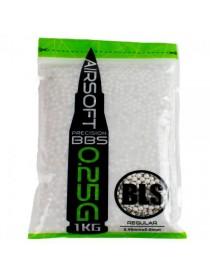 Шарики BLS 0,25 (1кг, белые, пакет) (20 пакетов в коробке) Taiwan 1KG-H25