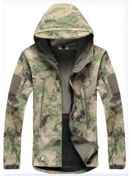 Куртка SOFT SHELL зеленый мох L