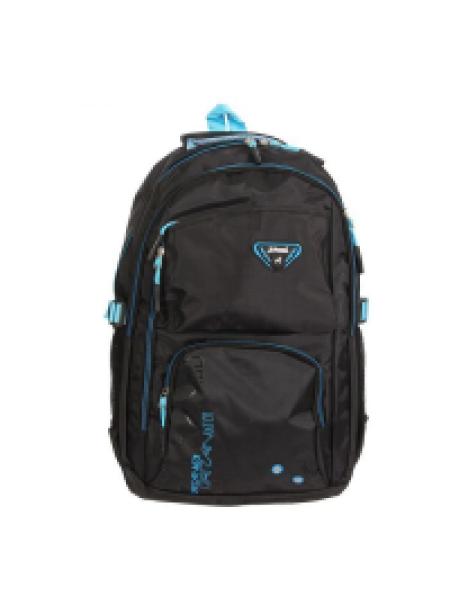 """Рюкзак туристический """"Тони"""", 2 отдела, 3 наружных кармана, усиленная спинка, объём - 22л, чёрный/гол"""