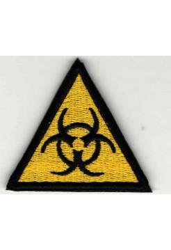 Шеврон Эпидемия треугольник 5 см желтый/черный