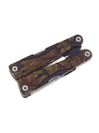 Инструмент многофункциональный 9в1, в чехле рукоять хаки