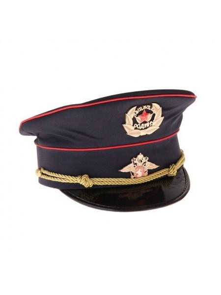 "Фуражка полицейского ""МВД. Защищаю Родину"", цвет синий"