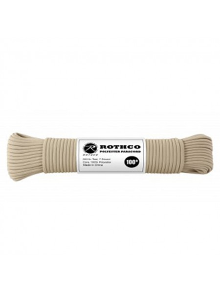 ШНУР POLYESTER PARACORD 100 FT / TAN код ROTHCO 30801