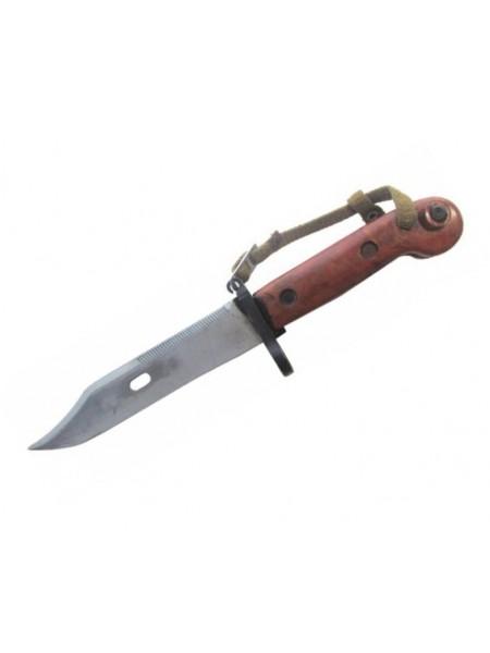 ММГ Штык-ножа АК ШНС-001-01 (для АКМ), коричневая рукоятка с резиновой накладкой на металлических но