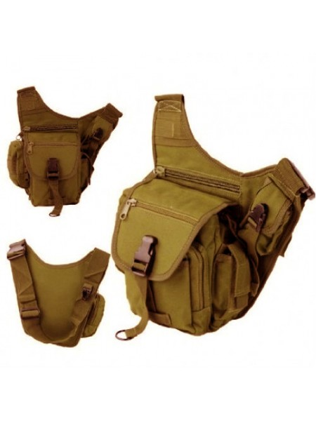 СУМКА НАПЛЕЧНАЯ SWAT Utility Military Tactical (600D) TAN код AS-BS0019T