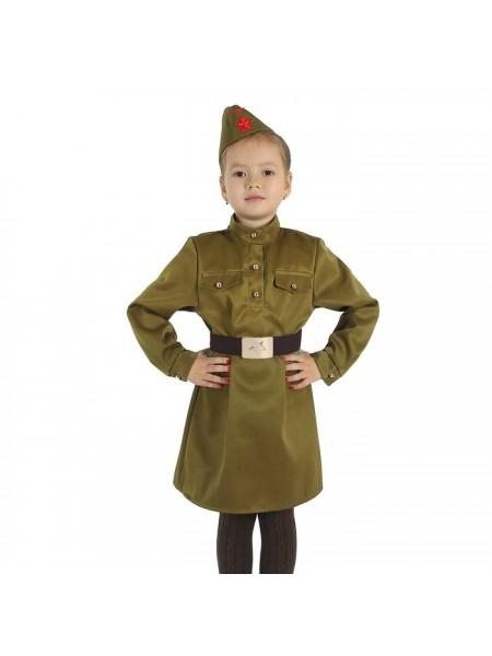 """Платье, ремень, пилотка """"Военная"""" рост 152"""
