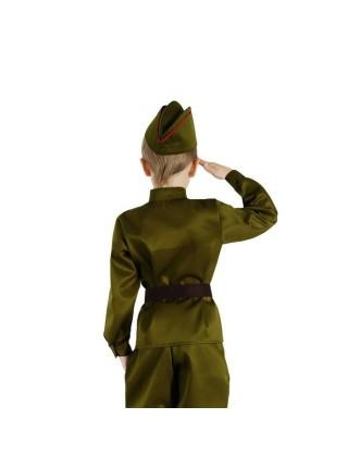 """Набор """"Военного"""" (гимнастерка, ремень, пилотка) рост 98"""