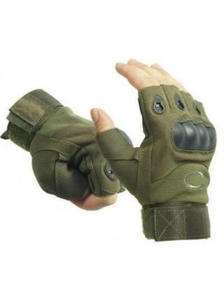 Перчатки Oakley беспалые зеленые L