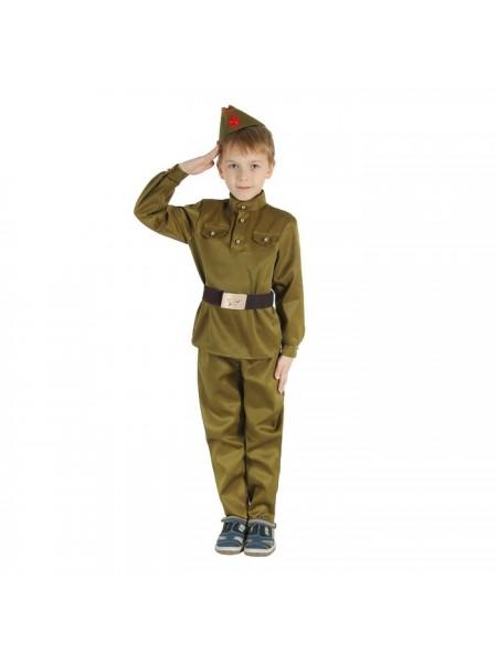 """Костюм """"Военного"""" (брюки, гимнастерка, ремень, пилотка) рост 146"""