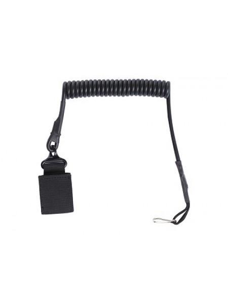 ШНУР страховочный спиральный Black WS20214B AS-SL0003B