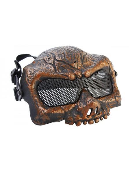 Маска защитная на верхнюю часть лица Зомби Antique Brass