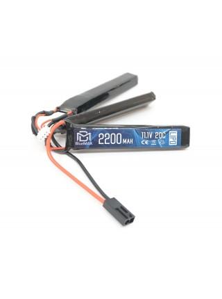 АКБ BlueMax 2600mAh Lipo 11.1V 20C трехлепестковый 12.5x21x128