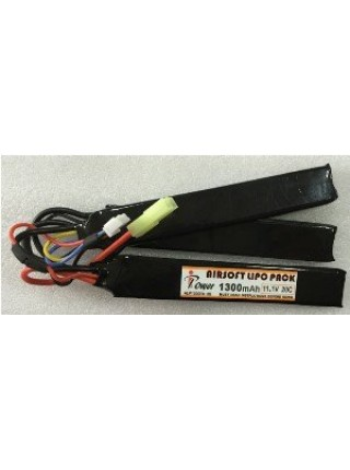 АКБ iPower 11.1V LiPO 1300mAh 20C ALP1300R4B-3S 5x20x120x3 MINI TYPE х3 (трёхлепестковый)