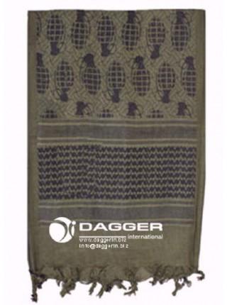 АРАФАТКА Tactical Shemagh OD/Black Гранаты код DAGGER DI-9038