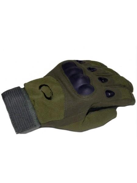 Перчатки Oakley полнопалые с защитой котяшек Зеленые XL