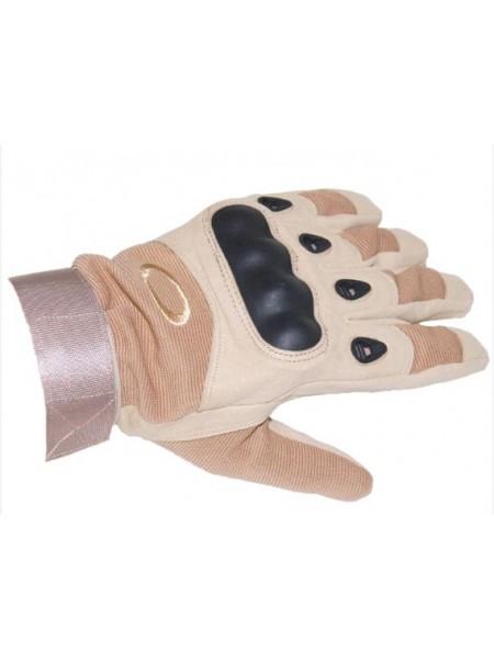 Перчатки Oakley полнопалые с защитой котяшек Коричневые L