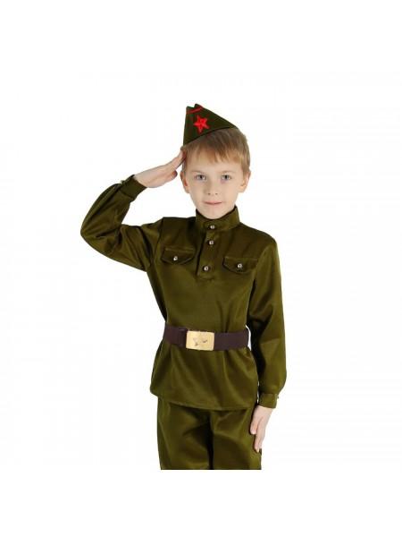 """Костюм """"Военного"""" (гимнастерка, ремень, пилотка, брюки) рост 98"""