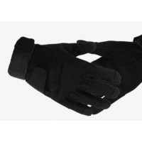 Перчатки Black Hawk мягкая зашита костяшек ПП черные M