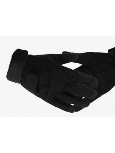 Перчатки мягкая защита костяшек утепленные черные L
