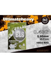 Шарики BLS 0,43 (1000шт, белые, пакет) (40 пакетов в коробке) Taiwan 1BA-PLA43