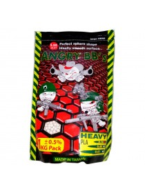 Шары ANGRY BBs 0,43 (белые, 1кг. пакет) (20 пакетов в коробке) Taiwan AG-043PLA