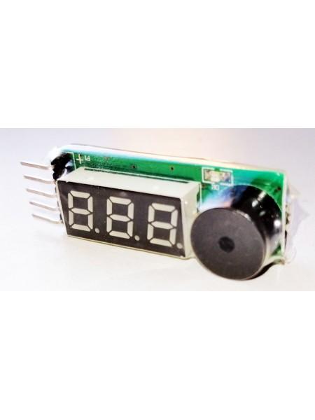 Тестер-индикатор напряжения для Li-Po/Li-Fe аккумуляторов AS-BA0051