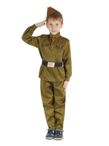 """Костюм """"Военного"""" (брюки, гимнастерка, ремень, пилотка) рост 158"""