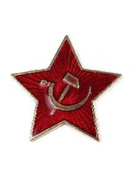 Значок звезда 2,5см с застежкой как на обычном значке 2452445